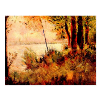 Seated slope by Georges Seurat Postcard