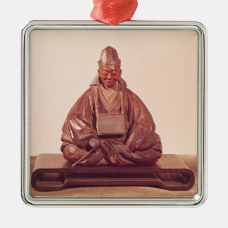 Seated statue of Basho  Edo Period Metal Ornament