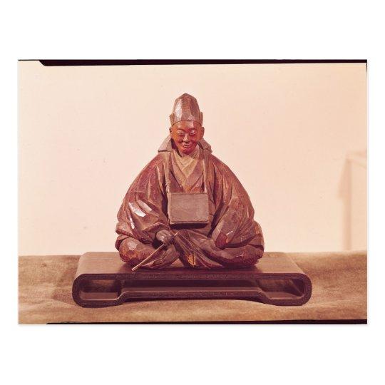 Seated statue of Basho  Edo Period Postcard