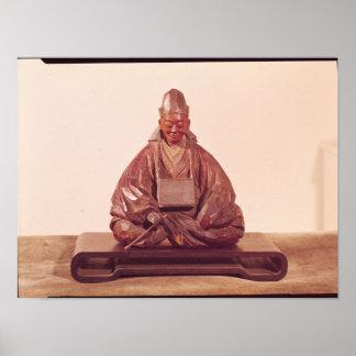 Seated statue of Basho  Edo Period Poster