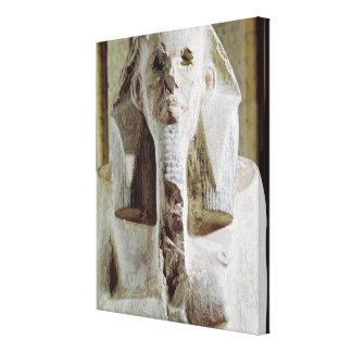 Seated statue of King Djoser Canvas Print