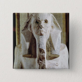 Seated statue of King Djoser Pinback Button