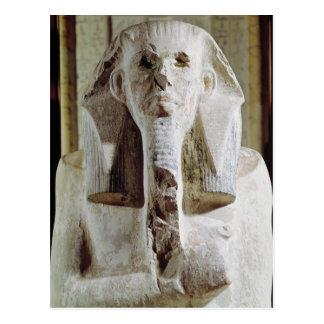 Seated statue of King Djoser Postcard