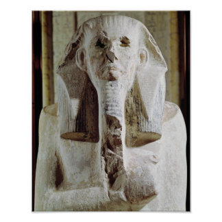 Seated statue of King Djoser Poster