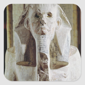 Seated statue of King Djoser Square Sticker