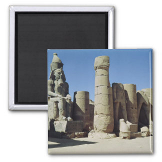 Seated statue of Ramesses II 2 Inch Square Magnet
