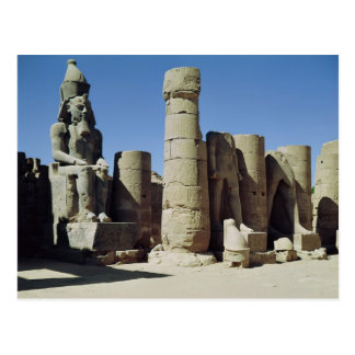 Seated statue of Ramesses II Postcards