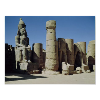 Seated statue of Ramesses II Print