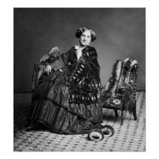 Seated Victorian Woman With Furs Poster