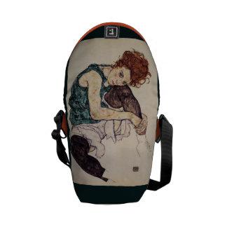 Seated Woman ~ Egon Schiele ~AustrianPainter 1917 Messenger Bag