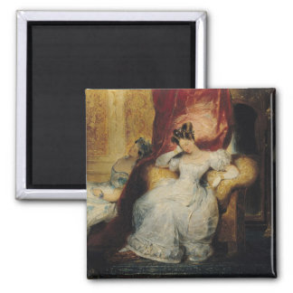 Seated young women, 1827 2 inch square magnet