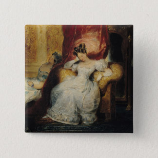 Seated young women, 1827 button