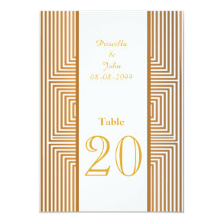 Seating Card,list behind,strip gold,Gold font Card