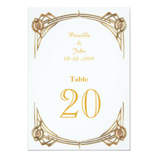 Seating Card,list behind,white gold,Gold font Card