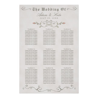 SEATING CHART 61 - 90   Elegant Beauty Wedding