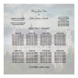 Seating Chart, Castle Themed Wedding Poster