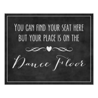 Seating Chart / Dance Floor Poster