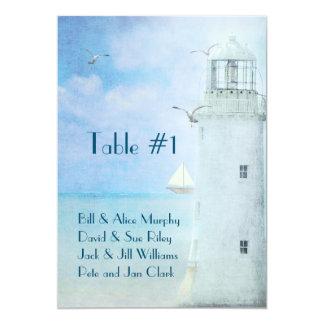 Seating Chart-Lighthouse Wedding Card