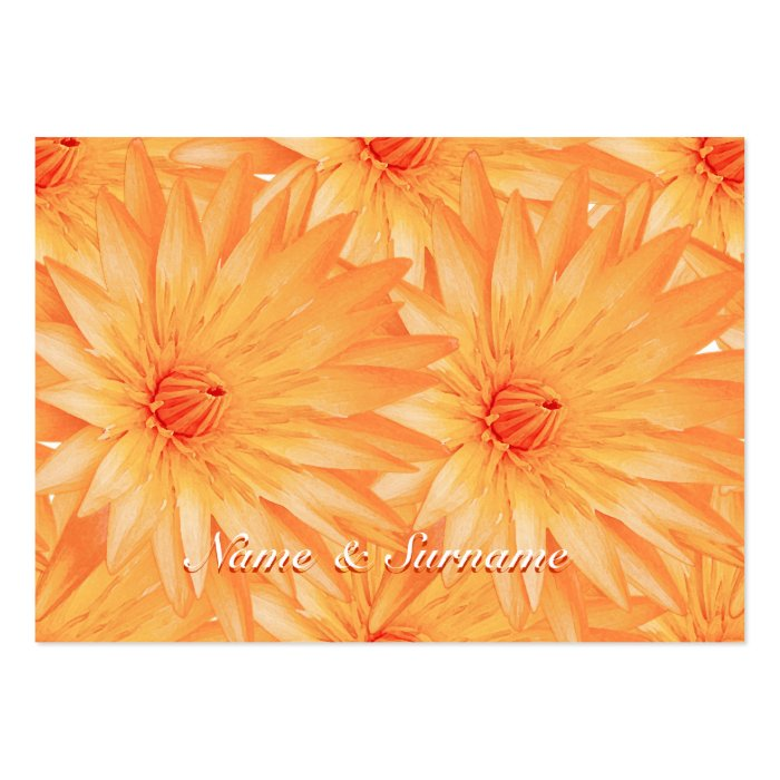 Seating name tags, orange lilly - customizable large business card