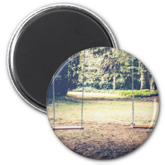 Seating Themed, Garden Swings For Dating Couples W 2 Inch Round Magnet