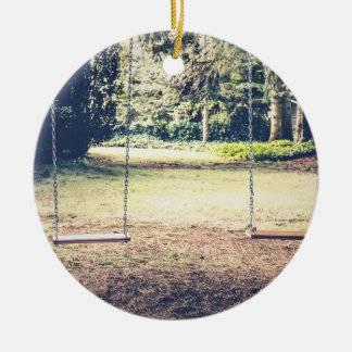 Seating Themed, Garden Swings For Dating Couples W Ceramic Ornament