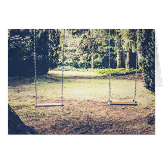 Seating Themed, Garden Swings For Dating Couples W Greeting Card