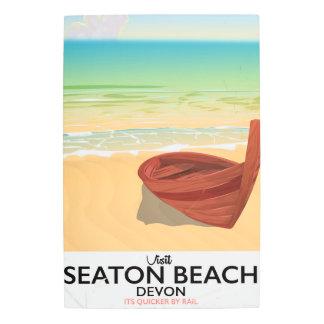 Seaton Beach Devon vintage seaside poster