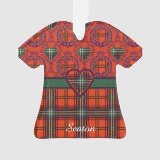 Seaton clan Plaid Scottish kilt tartan Ornament