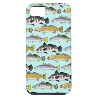 Seatrout and Drum Pattern in blue iPhone SE/5/5s Case