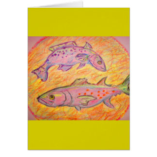 seatrout and spanish mackerel design card