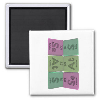 Seats-Se-At-S-Selenium-Astatine-Sulfur.png 2 Inch Square Magnet