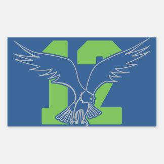 Seattle 12th Fan Hawk Stickers