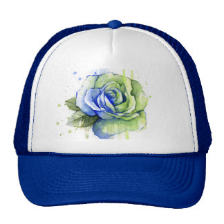 Seattle 12th Rose Watercolor Painting Hat