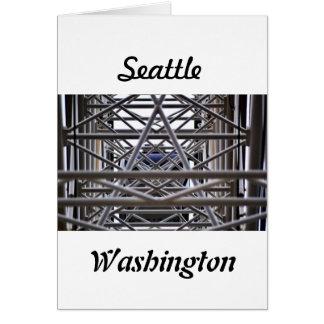 Seattle 2017 Urban Photography Ferris Wheel Card