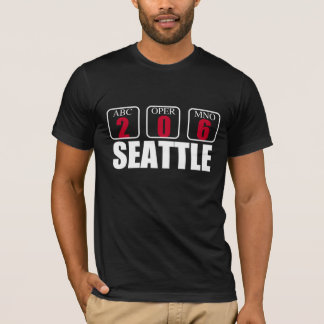 SEATTLE 206 AREA CODE GRAPHIC TEE