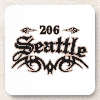 Seattle 206 beverage coaster