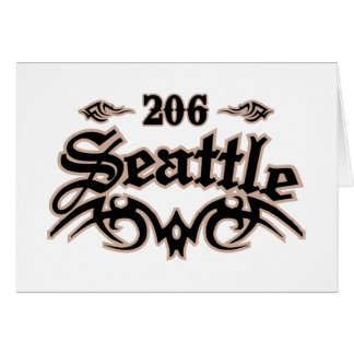 Seattle 206 greeting cards