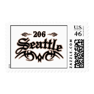 Seattle 206 postage stamp