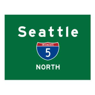 Seattle 5 tarjetas postales