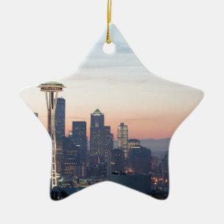 Seattle Adorno Navideño De Cerámica En Forma De Estrella