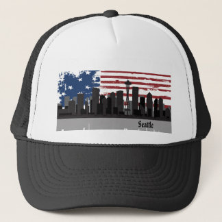 Seattle  American Cities CityScape Hat