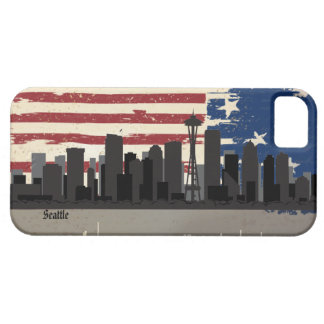 Seattle American Cities CityScape  iPhone 5 Case
