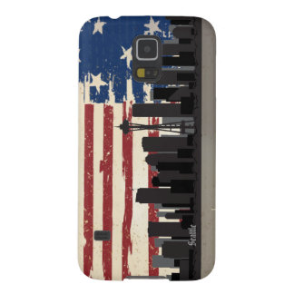 Seattle American Cities CityScape Samsung Galaxy Galaxy S5 Cover