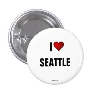 Seattle: Amo el botón del pinback de Seattle Pin Redondo De 1 Pulgada
