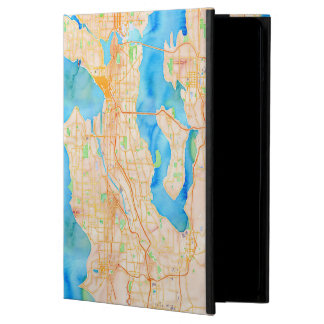 Seattle and Puget Sound Watercolor Map Case For iPad Air