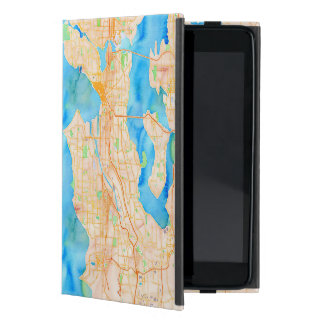 Seattle and Puget Sound Watercolor Map Cover For iPad Mini