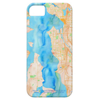 Seattle and Puget Sound Watercolor Map iPhone SE/5/5s Case