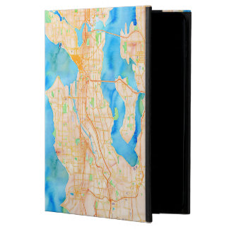 Seattle and Puget Sound Watercolor Map Powis iPad Air 2 Case