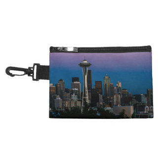 Seattle Architecture Under the Purple Sky Accessory Bag