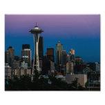 Seattle Architecture Under the Purple Sky Photo Print